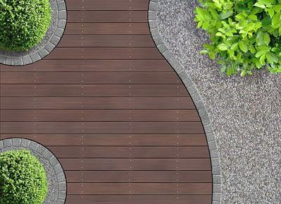 Contoh Penataan Material yang Berbeda pada Taman Rumah