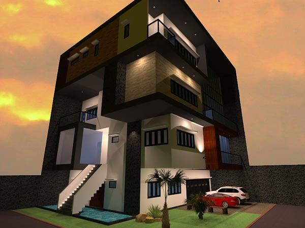desain rumah di cibubur 1