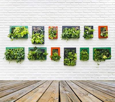 Contoh vertical garden untuk taman rumah