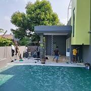 proses finishing pekerjaan renovasi rumah di bsd