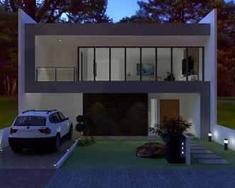 gambar desain arsitek untuk rumah 2 lantai modern