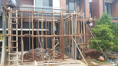 Contoh pekerjaan renovasi carport rumah di bintaro