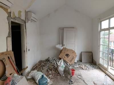 Kondisi kamar sebelum bongkar pasang keramik lantai