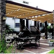 canopy dekoratif dengan atap kain